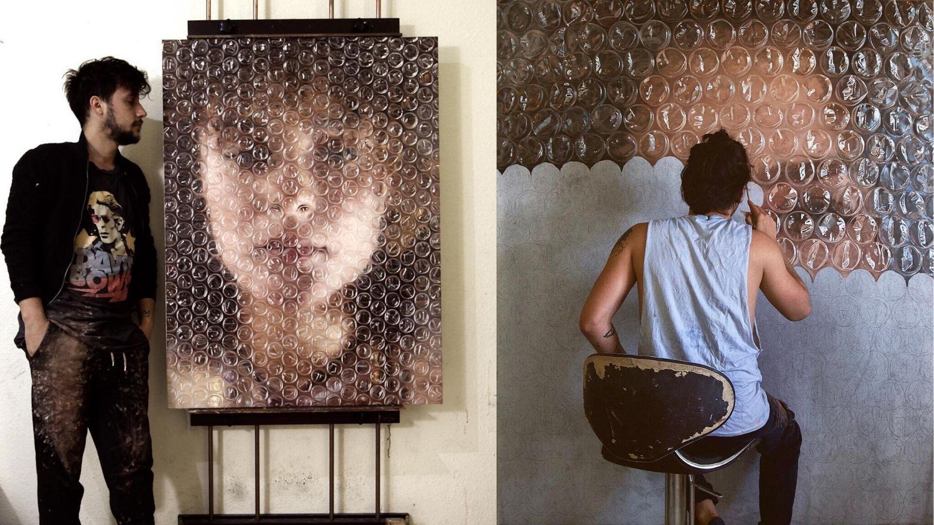 Cet artiste crée une illusion de papier bulle sur toutes ses peintures