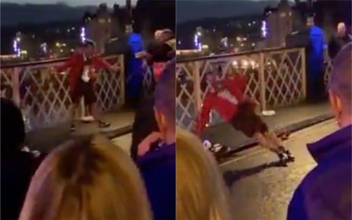 Un policier tase un homme alcoolisé et se fait applaudir par les passants (vidéo)