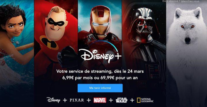 Nouvelles infos pour Disney +