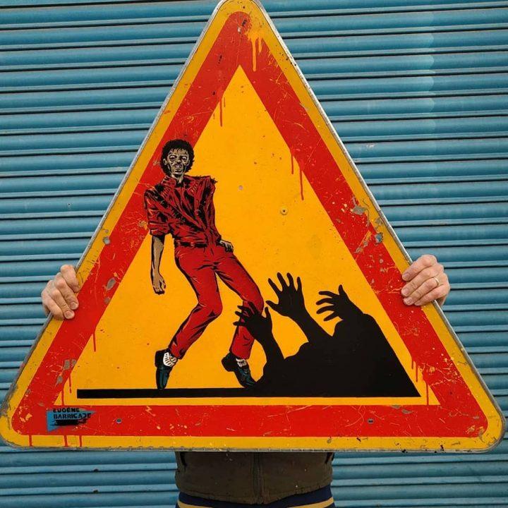 Eugène Barricade panneau signalisation 1