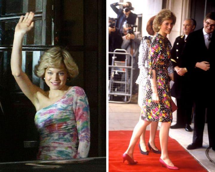 Lady Diana jouée par Emma Corrin dans The Crown