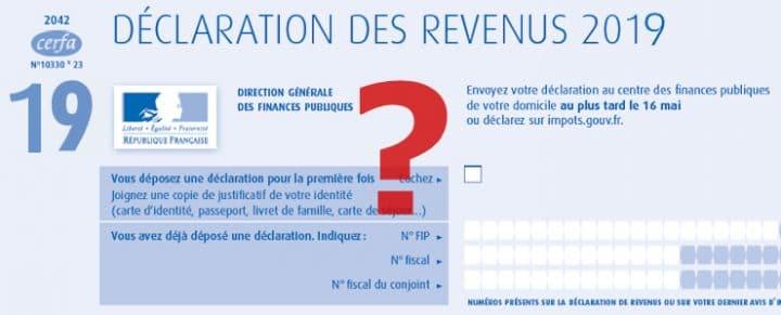 Déclarations des revenus impôts 2020