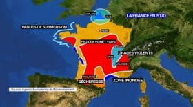 Carte de la France 2070