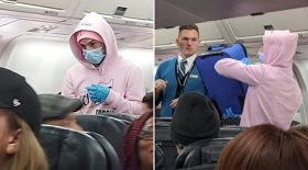 instagrameur prétend coronavirus avion