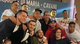 Les joueurs de PSG déchainés lors d'une soirée