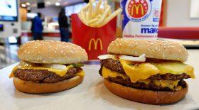 McDonald's tige en métal hamburger