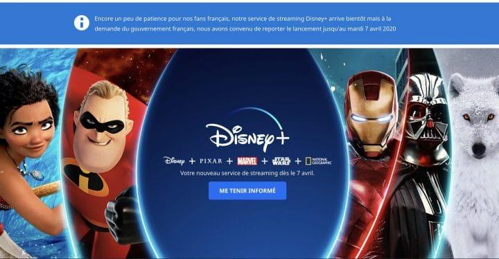 Lancement Disney + reporté