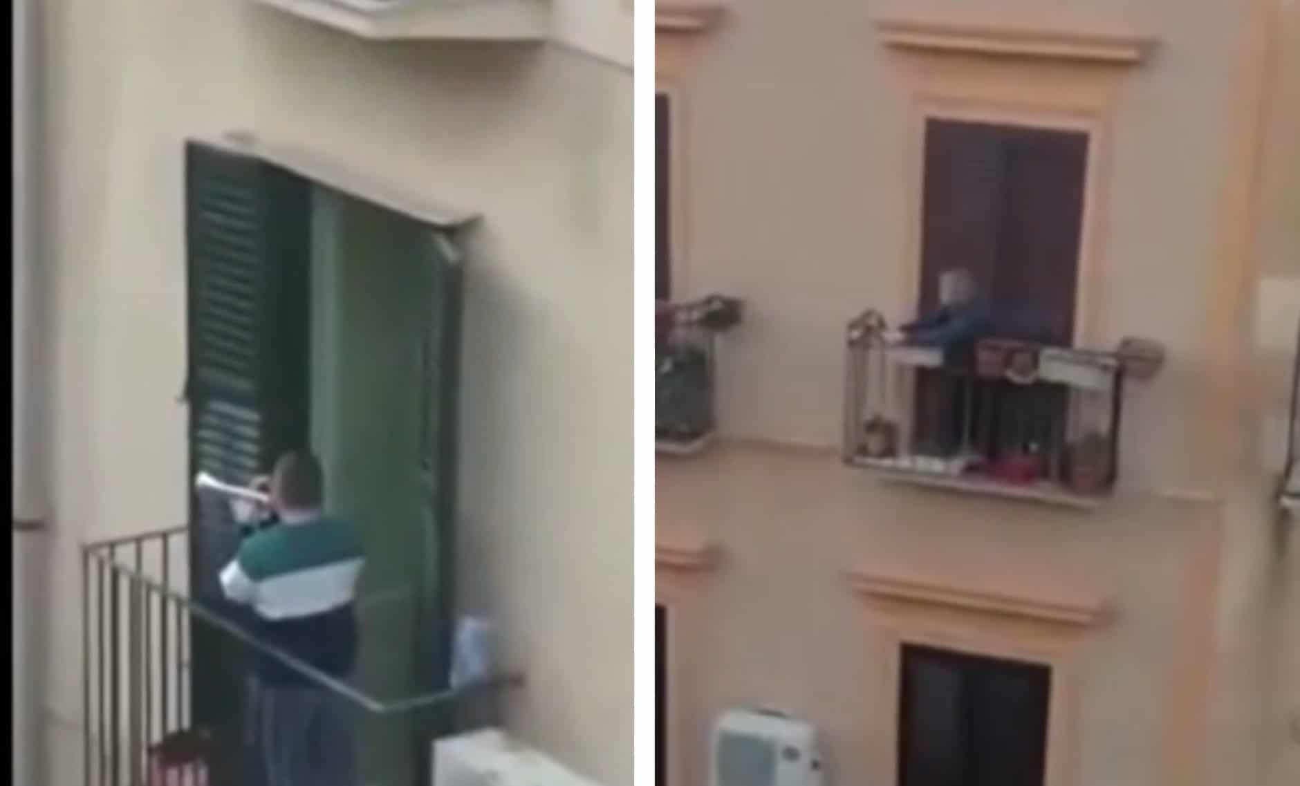 Confinement : il partage son concert de trompette depuis son balcon ! (vidéo)