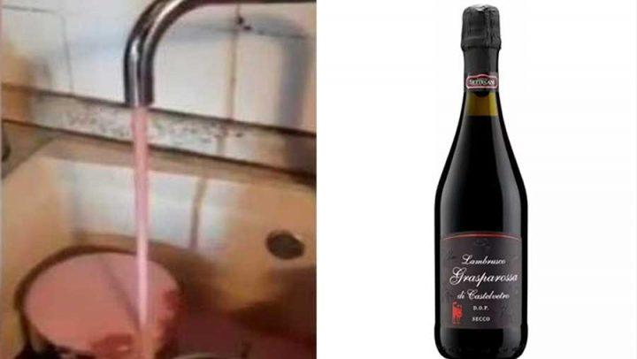 robinet vin rouge