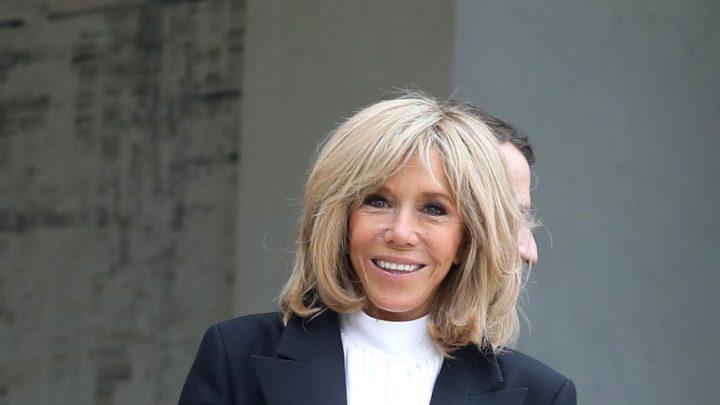 Brigitte Macron balade