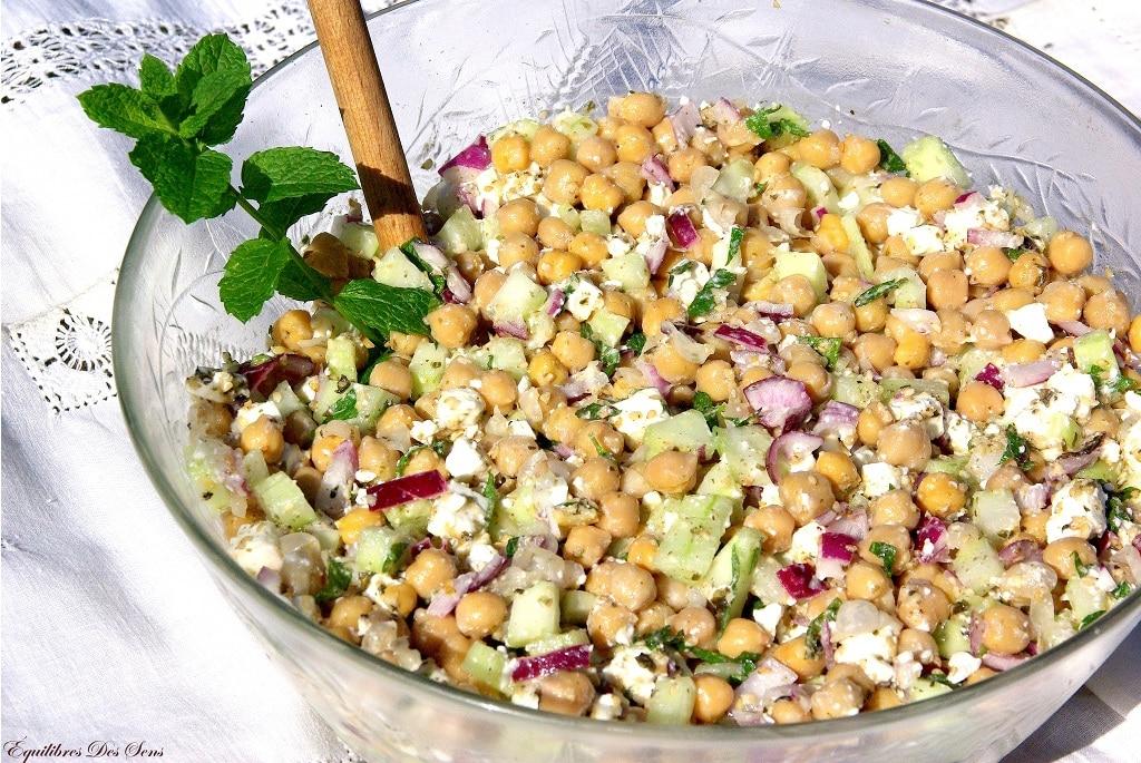 Salade pois chiche feta : une salade bien fraîche pour le ...