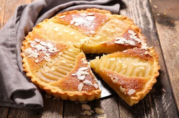 La tarte aux poires et aux amandes, une recette très gourmande