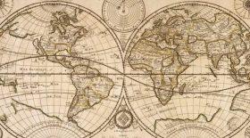 carte monde 1922