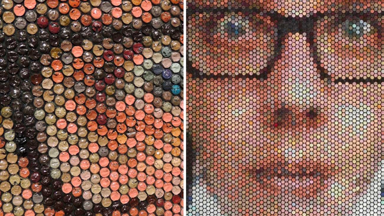 Des tableaux réalistes réalisés avec de la peinture injectée dans du papier bulle