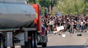 camion-citerne manifestants Minneapolis