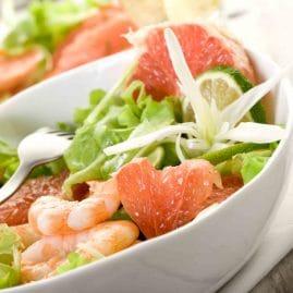 salade crevette pamplemousse