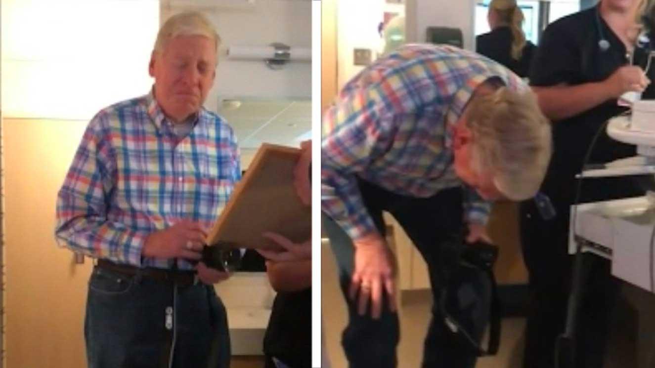 Un arrière-grand-père fond en larmes quand il apprend que son arrière-petit-fils portera son nom