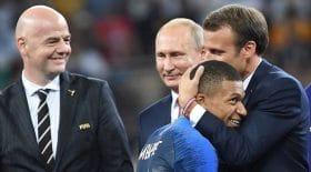 Emmanuel Macron Kylian Mbappé rencontre coupe de la ligue