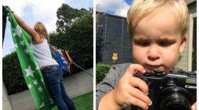 Il emprunte l'appareil photo de son père photographe