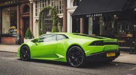 Accident d'une Lamborghini