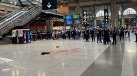 agression couteau gare du nord