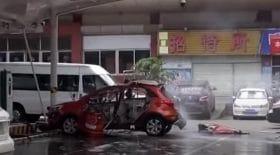 voiture électrique explose charger