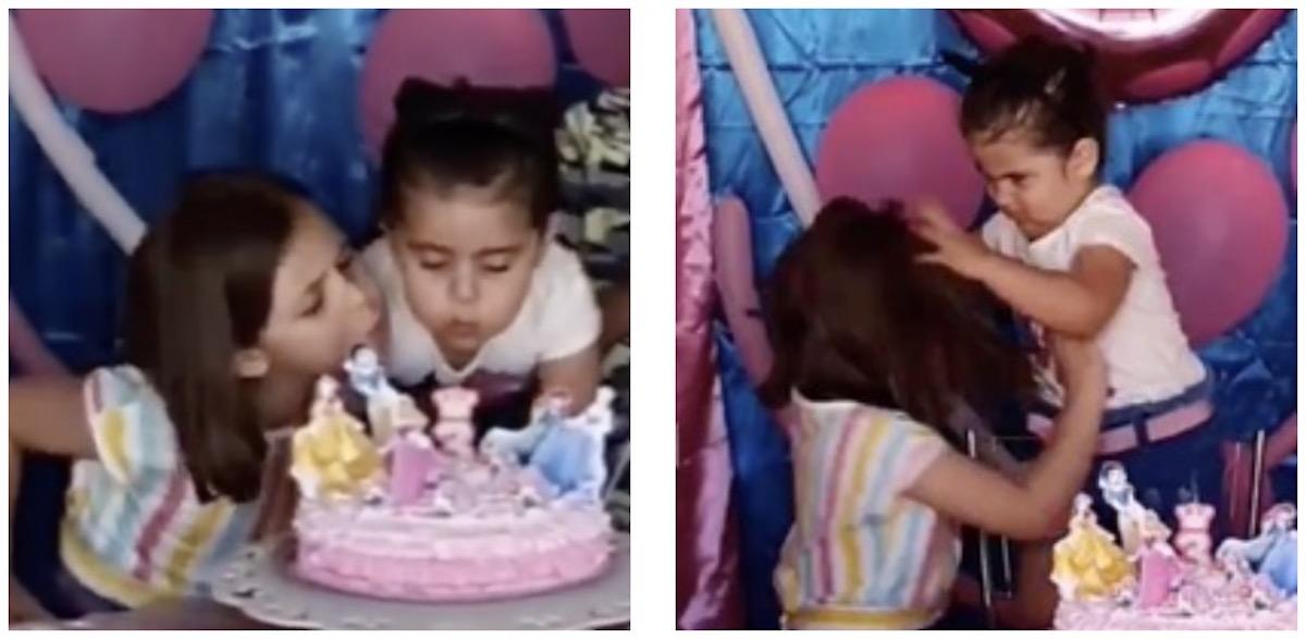 Cette petite fille ne va pas se laisser faire le jour de son anniversaire ! (Vidéo)