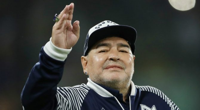 La légende du football Diego Maradona est mort
