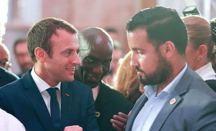 Emmanuel Macron Alexandre Benalla amant blague