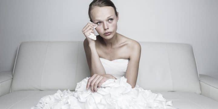 Mariée pleure