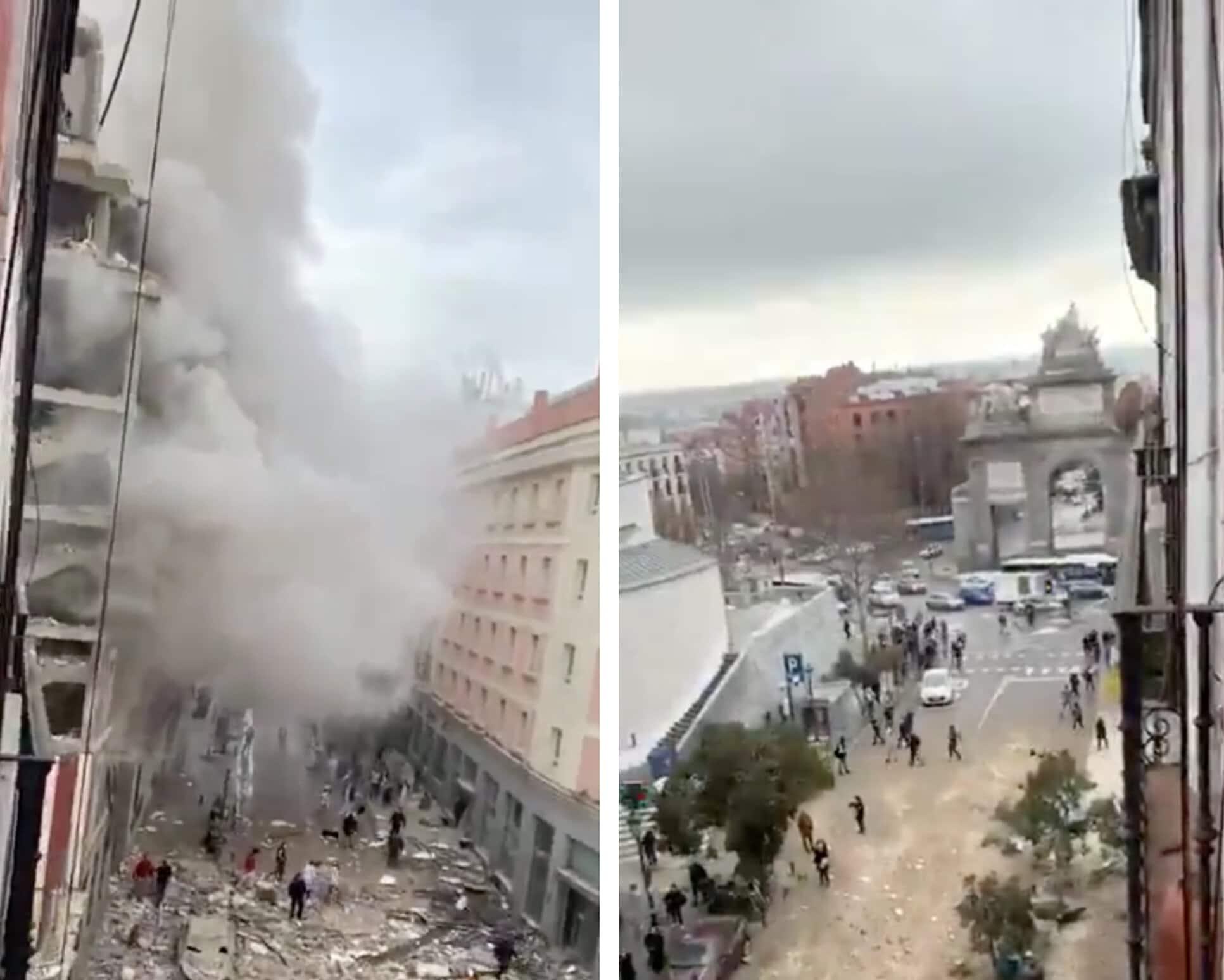 Alerte : Une explosion soudaine a retenti dans les rues de Madrid faisant au moins trois morts ! (vidéo)