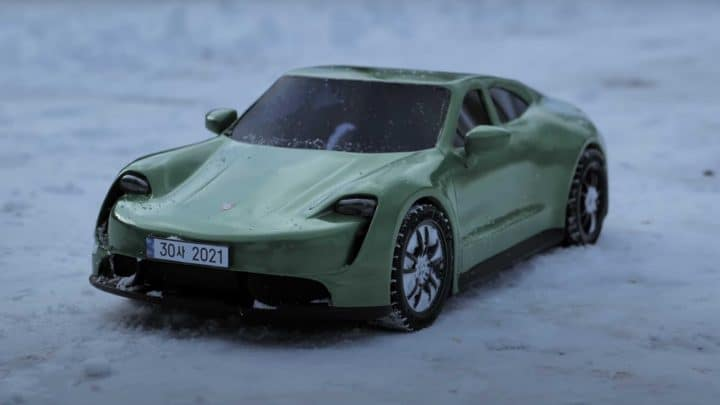 voiture porsche modèle stylo 3D