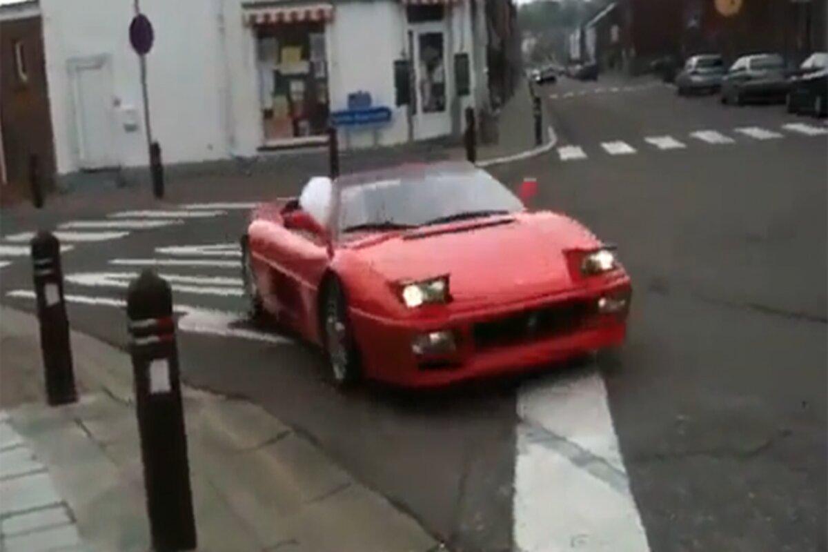 Gros moment de honte pour ce conducteur qui crash sa Ferrari 348 en 10 secondes (vidéo)