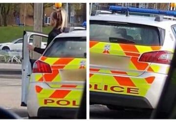 Deux policiers pris en flagrand délit en train de s'embrasser dans leur voiture de service