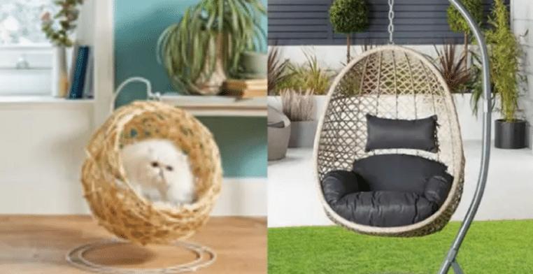 Aldi : De magnifiques chaises œufs suspendues pour chats disponibles