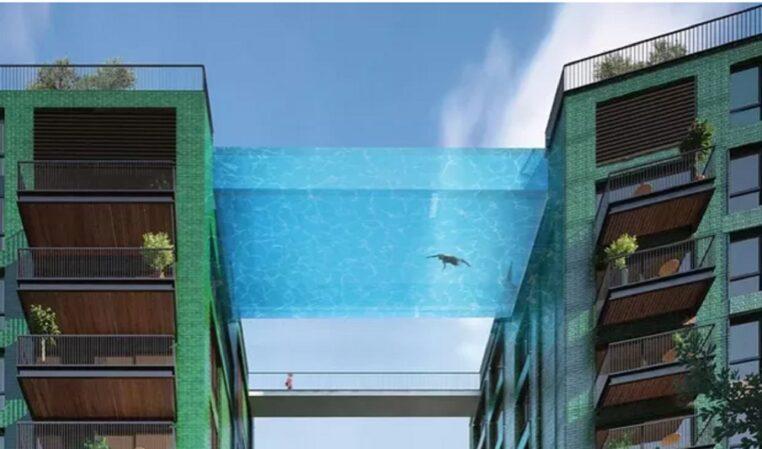 Découvrez cette véritable piscine en plein ciel de Londres