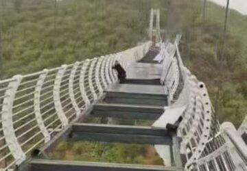Chine : ce touriste est pris au piège dans un pont en verre
