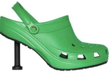 balenciaga s'associe à crocs pour des chaussures à talon