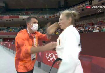 JO de Tokyo 2021 entraineur gifle judoka