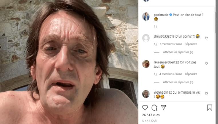Pierre Palmade : il diffuse une vidéo totalement WTF sur son compte Instagram