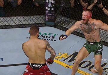 UFC La cheville en angle droit, McGregor finit sur une civière