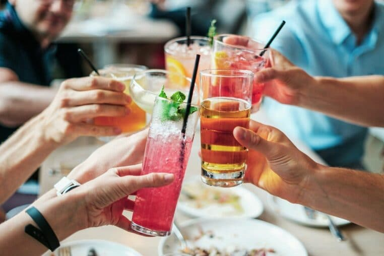 boissons alcoolisées peau