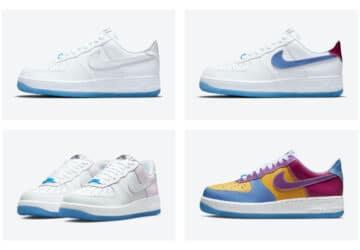 Nike Air Force Low UV : ces sneakers blanches changent de couleur au soleil