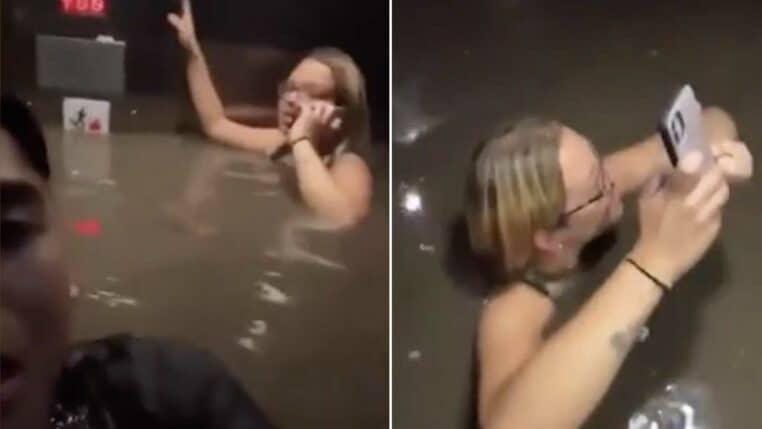 piégés dans un ascenseur pendant une inondation